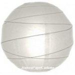 16 Inch Uneven ribbing white paper lanterns