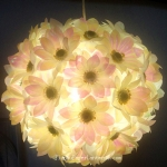 "12"" White Daisy Flower Ball Lantern"