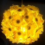 "12"" Yellow Daisy Flower Ball Lantern"