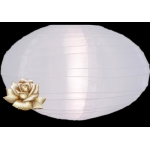 "16"" Saturn Nylon Lanterns-White"
