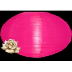 "16"" Saturn Nylon Lanterns-Hot Pink"
