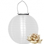 "12"" Solar White Nylon Lanterns"
