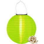 "12"" Solar apple green Nylon Lanterns"