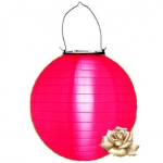 "12"" Solar Hot Pink Nylon Lanterns"