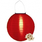 "12"" Solar Red Nylon Lanterns"