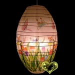 "12"" Kawaii White Butterfly and Bushes Paper Lantern"