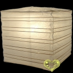"12"" White Square Bamboo Ribs Paper Lanterns"