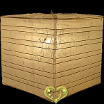 "12"" Natural Square Bamboo Ribs Paper Lanterns"