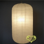 White Capsule Shaped Paper Lantern