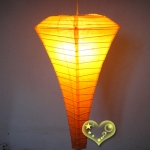 Orange Conical Paper Lanterns