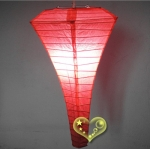 Coral Conical Paper Lanterns