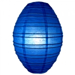 "10"" Dark Blue Olives Paper Lantern"