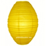 "12"" Yellow Olives Paper Lantern"