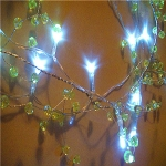 "Led Lighted 42"" Light Lime Caystal Garland"