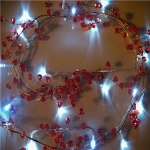 "Led Lighted 42"" Red Caystal Garland"