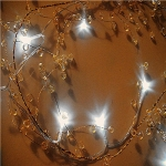 "Led Lighted 42""Orange Caystal Garland"