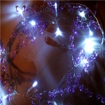 "Led Lighted 42"" Purple Caystal Garland"