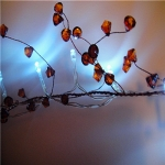 "Led Lighted 42"" Coffe Caystal Garland"