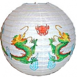 "16"" Pairs of Dragon Paper Lantern"