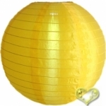 "42"" Even Ribbing Gold Yellow Nylon Lantern"