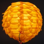 "14"" Orange Pine Cone Paper Flower lanterns"