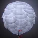 "14"" White Pine Cone Paper Flower lanterns"