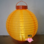 "14"" Led Battery Operated Nylon Lantern-Orange"