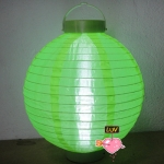 "14"" Led Battery Operated Nylon Lantern-Lemon Green"