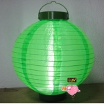 "14"" Led Battery Operated Nylon Lantern-Grass Green"