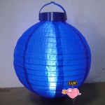 "20"" Led Battery Operated Nylon Lantern-Dark Blue"