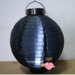 "20"" Led Battery Operated Nylon Lantern-Black"