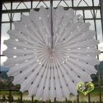 "19"" White Hanging Paper Sunburst"