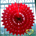 "19"" Red Hanging Paper Sunburst"