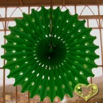 "19"" Green Hanging Paper Sunburst"