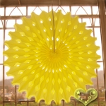 "19"" Yellow Hanging Paper Sunburst"