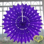 "19"" Purple Hanging Paper Sunburst"