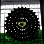 "19"" Black Hanging Paper Sunburst"