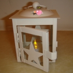 Metal Star Candle Lantern-White
