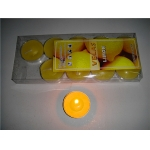 Lemon Tea Lights Candles(pack of 10)