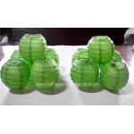 3.5 Inch Even Ribbing Light Lime Paper Lanterns(10 of pack)