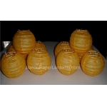 3.5 Inch Even Ribbing yellow Paper Lanterns(10 of pack)