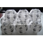 3.5 Inch Bamboo Printed Paper Lanterns(10 of pack)