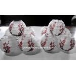 3.5 Inch Plum Printed Paper Lanterns(10 of pack)