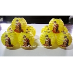 3.5 Inch Japanese GMH Geisha Paper Lantern-Yellow(10 OF PACK)