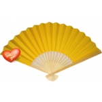 "9"" Yellow Paper Hand Fans(200 of case)"