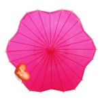 Six Scalloped Parasols-Fuchsia