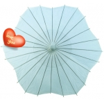 Six Scalloped Parasols-Baby Blue
