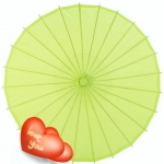 "Wholesale 32"" Chartreuse Paper Parasol (100 of box)"