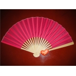 "9"" Fuchsia Folding Silk Fans(12 pieces)"