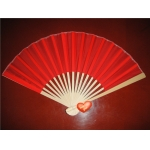 "9"" Red Folding Silk Fans(12 pieces)"